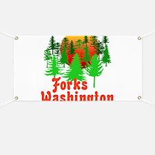 Forks Washington Twilight Banner