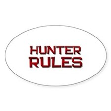 hunter rules Oval Decal