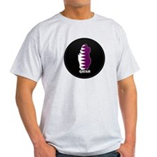 Flag Map of Qatar T-Shirt