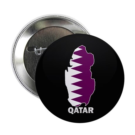 """Flag Map of Qatar 2.25"""" Button (10 pack)"""