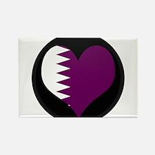 I love Qatar Flag Rectangle Magnet