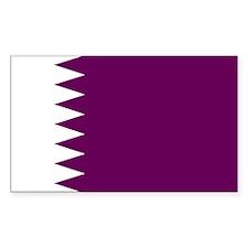 Qatar Flag Rectangle Decal