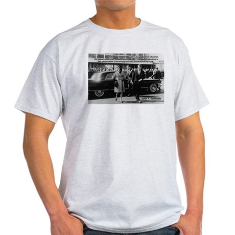 Education John F. Kennedy Ash Grey T-Shirt