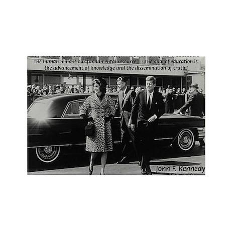 Education John F. Kennedy Rectangle Magnet (100 pa