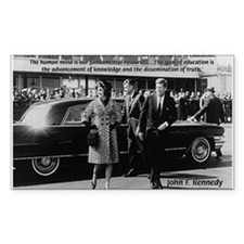 Education John F. Kennedy Rectangle Decal