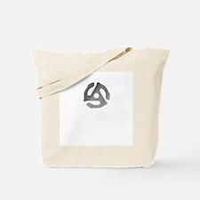 Retro Silver 45 rpm Tote Bag