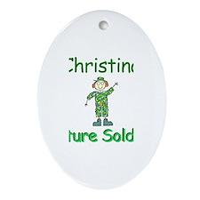 Christina - Future Soldier Oval Ornament