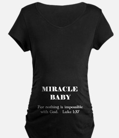Miracle Baby black maternity shirt