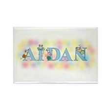 """Aidan"" with Mice Rectangle Magnet"