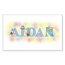 """Aidan"" with Mice Rectangle Decal"