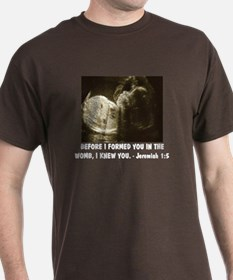 I FORMED YOU IN THE WOMB Pro-life T-Shirt