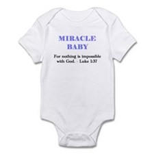 Miracle Baby Infant Bodysuit, boy - blue letters