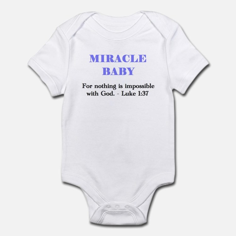 Miracle Baby Infant Bodysuit, boy - blue letters