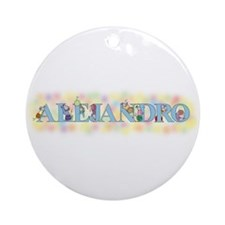 """Alejandro"" with Mice Ornament (Round)"