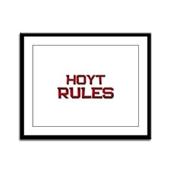hoyt rules Framed Panel Print