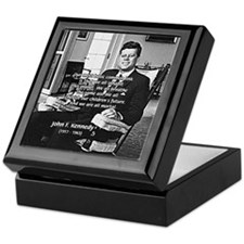 Humanist John F. Kennedy Keepsake Box