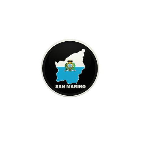 Flag Map of San Marino Mini Button (10 pack)