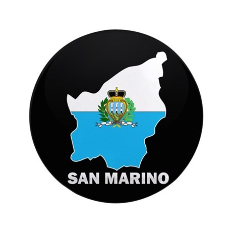 "Flag Map of San Marino 3.5"" Button"