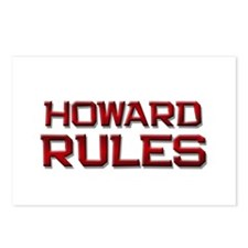 howard rules Postcards (Package of 8)
