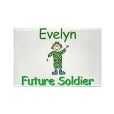 Evelyn - Future Soldier Rectangle Magnet