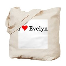 I Love Evelyn Tote Bag
