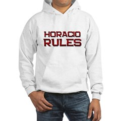 horacio rules Hooded Sweatshirt