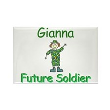 Gianna - Future Soldier Rectangle Magnet