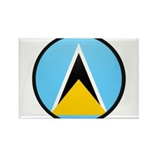 Saint Lucia Rectangle Magnet