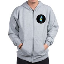 Flag Map of Saint Lucia Zip Hoodie