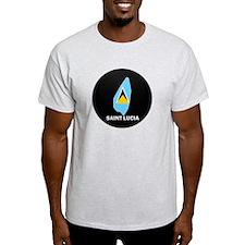 Flag Map of Saint Lucia T-Shirt