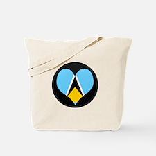 I love Saint Lucia Flag Tote Bag