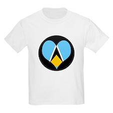 I love Saint Lucia Flag T-Shirt