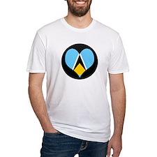 I love Saint Lucia Flag Shirt