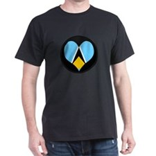 I love Saint Lucia Flag T-Shirt