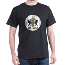 Saint Lucian Coat of Arms Sea T-Shirt