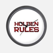 holden rules Wall Clock