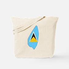 Saint Lucia Flag Map Tote Bag
