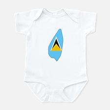 Saint Lucia Flag Map Infant Bodysuit