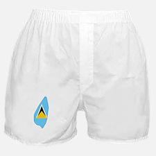 Saint Lucia Flag Map Boxer Shorts