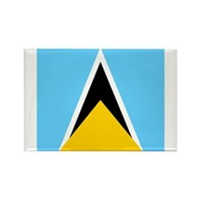Saint Lucian Rectangle Magnet