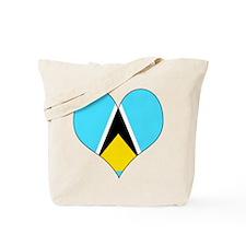 I Love Saint Lucia Tote Bag
