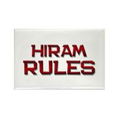 hiram rules Rectangle Magnet (10 pack)