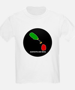 Flag Map of saint kitts and n T-Shirt