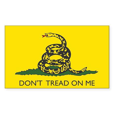 Gadsden Flag Rectangle Sticker