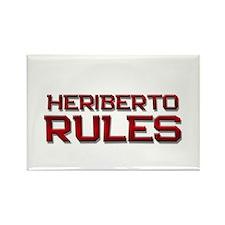 heriberto rules Rectangle Magnet