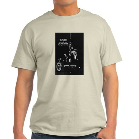 Famous Quote from JFK Ash Grey T-Shirt