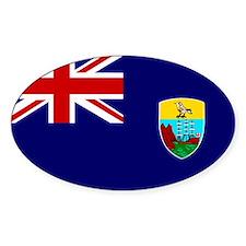 Saint Helena Flag Oval Decal