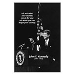 Famous Quote from JFK Large Poster