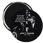 Famous Quote from JFK Magnet