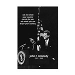 Famous Quote from JFK Mini Poster Print